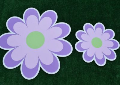 Purple Flower Yard Sign