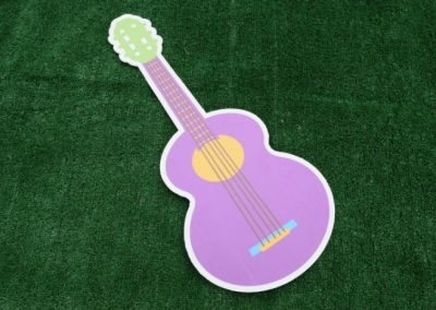 Purple Guitar Yard Sign