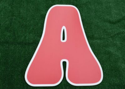 L-3 Red Letter Signs