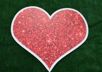 Red Glitter Heart Yard Sign