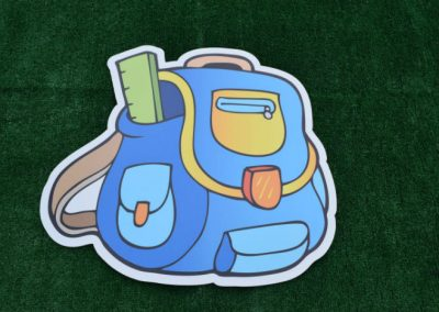 School Supplies Backpack Yard Sign