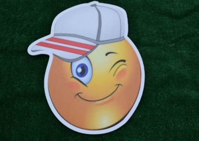 Sideways Hat Emoji Yard Sign