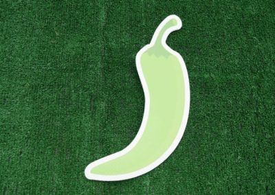 Small Green Pepper Yard Sign