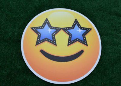 Starry Eyes Emoji Yard Signs
