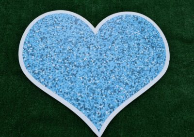Turquoise Glitter Sparkle Heart Yard Sign