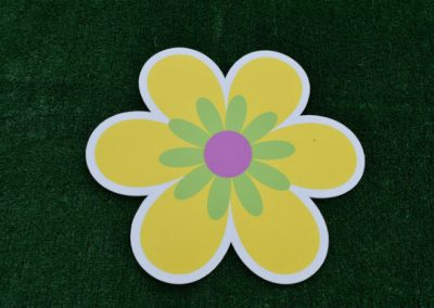 Yellow Flower Yard Sign