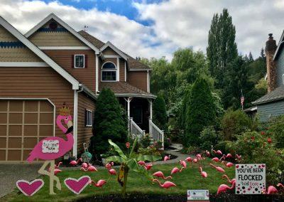 Fancy the Flamingo plus flocking yard sign