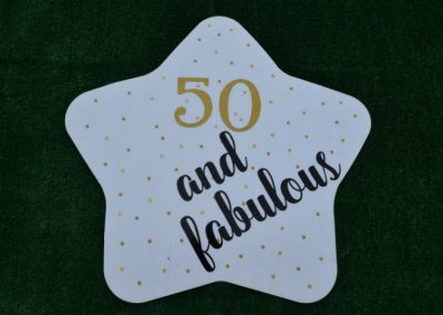 50 and Fabulout Yard sign