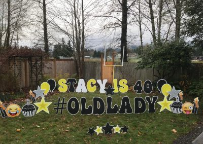 40th Birthday Yard Signs