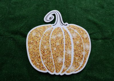 Gold Glitter Pumpkin Yard Sign