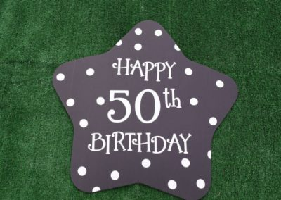 Happy 50th Birthday Polka Dot Yard Sign
