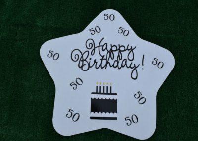 Happy 50th Birthday Star Yard Sign