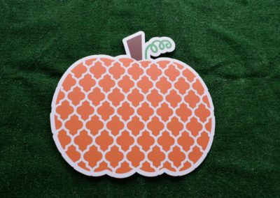 Orange Pattern Pumpkin Yard Sign