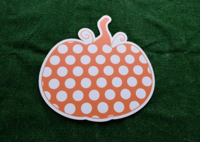 Orange Polka Dot Pumpkin Yard Sign