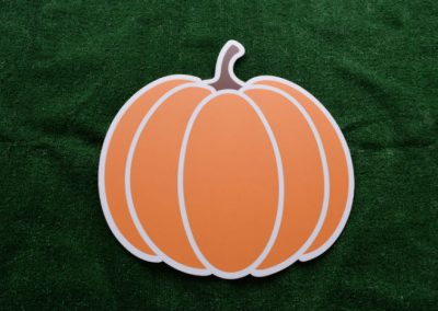 Orange Pumpkin Yard Sign