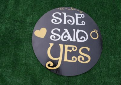 She Said Yes Yard Sign