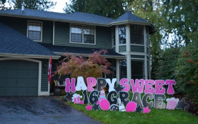 Making Memories!  Yard Announcements will help you Celebrate BIG with Colorful Birthday Yard Signs!