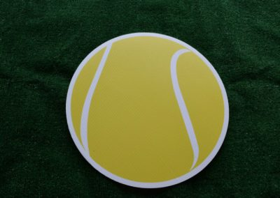 Tennis Ball Yard Sign