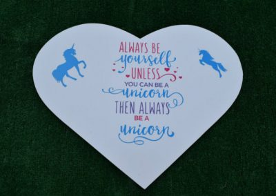 Unicorn Always be Yourself Yard Sign