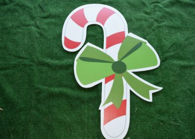 Candy Cane Large Yard Sign