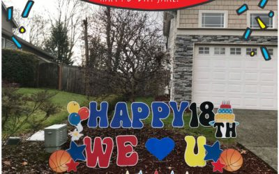 Yard Annoucements is more than Birthday Yard Signs!  We Celebrate with Graduation Signs, New Baby Stork Signs and Flamingo Flockings too!