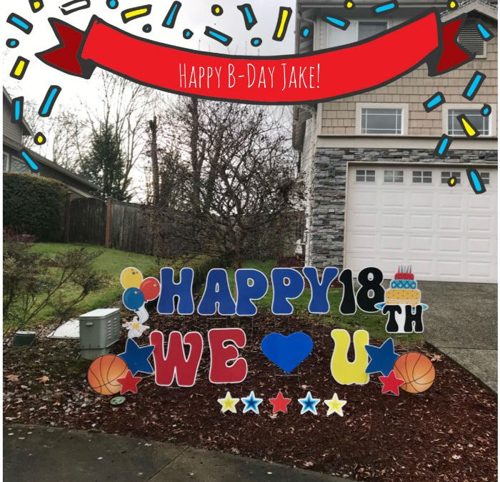 Let Yard Announcements help you decorate during the busy month of December with Birthday Yard Signs!