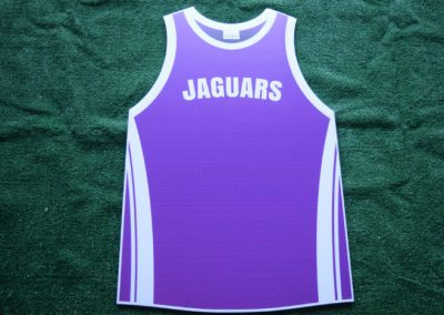 Jaguars Purple Basketball Jersey Yard Sign