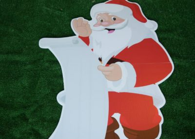 Santa Christmas Yard Sign