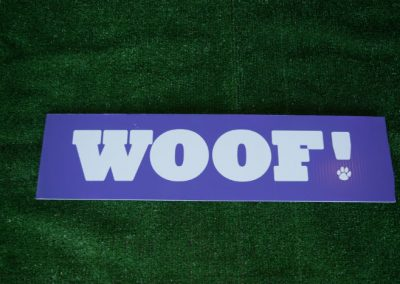 UW Woof Spirit Yard Sign
