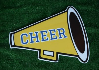 Yellow Navy Cheer Megaphone Yard Sign