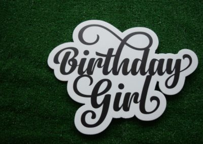 Birthday Girl Yard Sign Word Saying