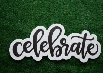 Celebrate Mini Yard Sign Word Saying