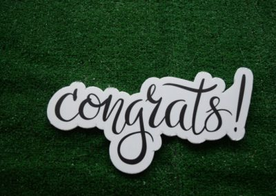 Congrats Mini Yard Sign Word Saying