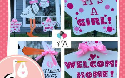Looking for a Unique Baby Gift? A Grandparents Baby Gift? Birth Announcement Stork Sign Rentals Make the Perfect Baby Gift!