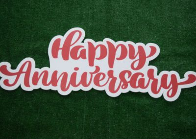 Happy Anniversary Red Yard Art Word Saying
