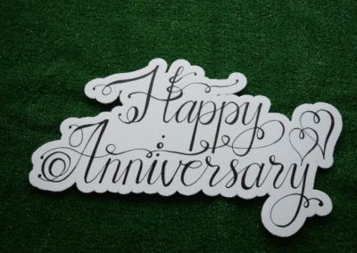 Happy Anniversary Yard Art Word Saying