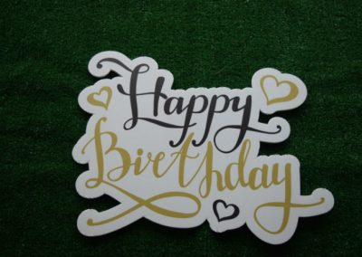 Happy Birthday Gold Yard Art Word Saying