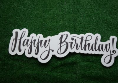 HappyBirthday Sign Word Saying