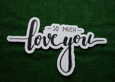 Love you so much yard art word saying