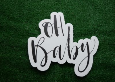 Oh Baby Mini Yard Sign Word Saying