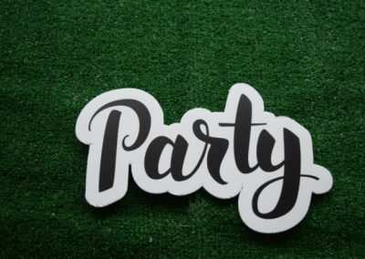Party Yard Sign Word Saying