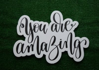You are amazing yard art word saying