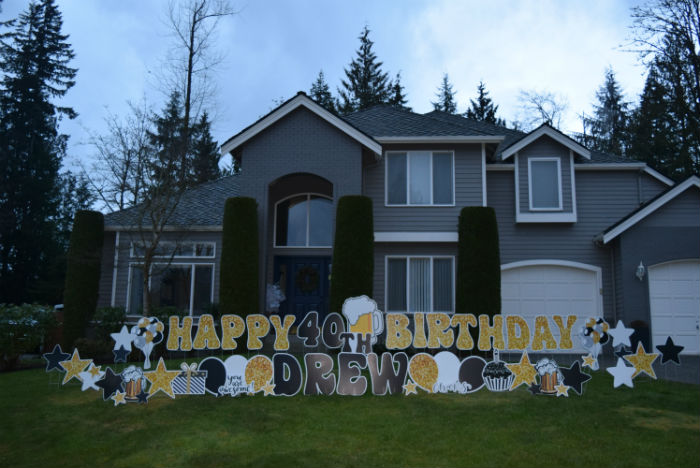 40th Birthday Beer Mug Yard Signs