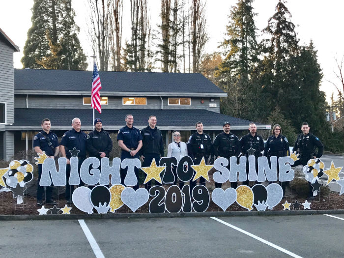 Night to Shine with Firefighters Yard Signs
