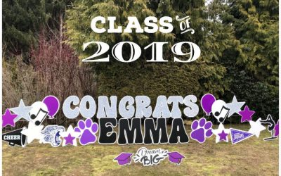 Celebrate BIG with Graduation Yard Signs! North Creek High School June 17th Innaugural Graduation – Congrats to the Class of 2019!