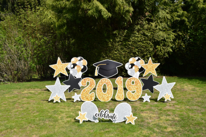 Graduation Grad Hat 2019 Yard Signs