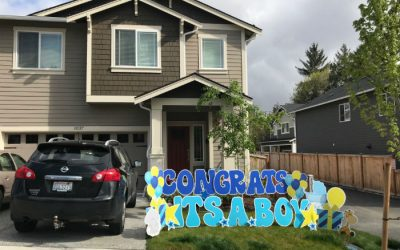Celebrate that New Baby in a BIG way with Its a Boy or Its a Girl Yard Signs or a Cute New Baby Stork Sign Rental!