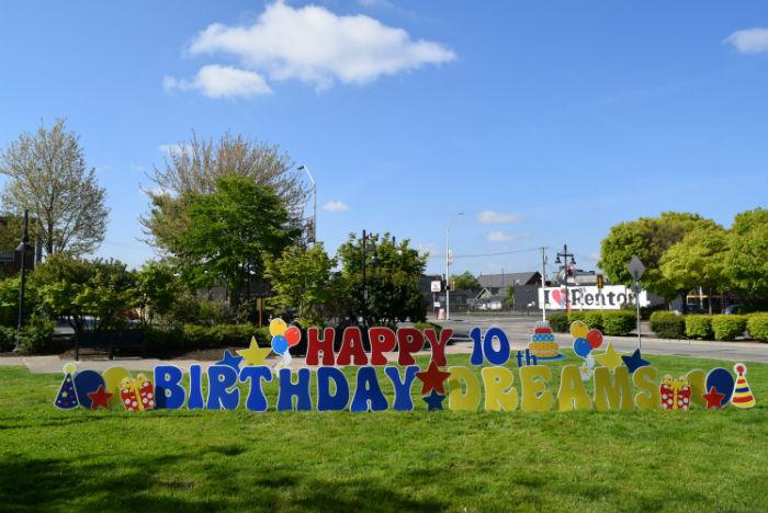 Birthday Dreams 10th Bday yard signs