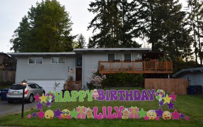 Birthday Yard Signs by Yard Announcements in the Greater Snohomish County Area of Washington State