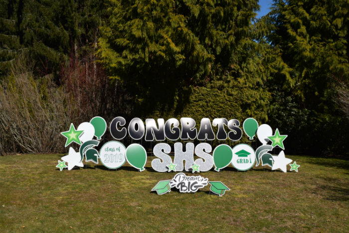 Graduation Time is Here!  Let Yard Announcements Help You with the Graduation Party with our FUN Congrats Grad Signs!